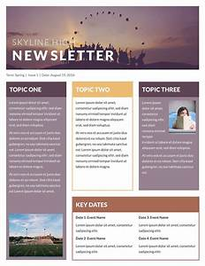 free printable newsletter templates email newsletter With newsletter outline template