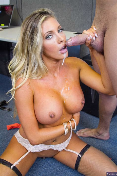 Blonde Lady Was Hired Because Of Blowjobs Milf Fox