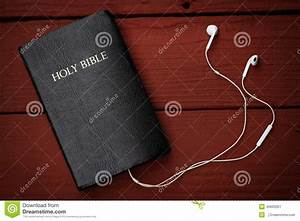 Contemporary Image Of A Bible And Mobile Phone Royalty
