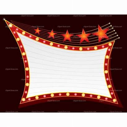 Marquee Sign Clipart Broadway Showing Blank Vector