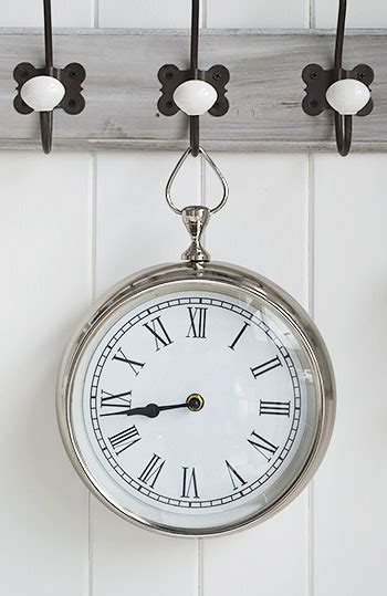 chrome wall clock  england furniture  accessories