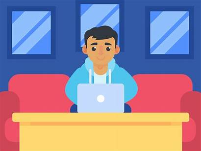 Couch Guy Internet Animation Dribbble Safety Safe
