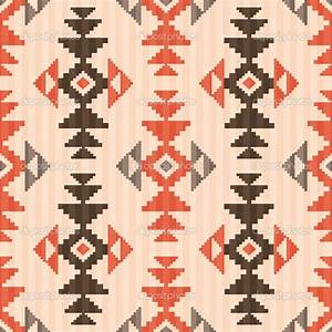 Seamless textile pattern in native american style — Stock ...