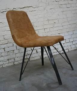 Chaise Industrielle Cuir : chaises style industriel ~ Teatrodelosmanantiales.com Idées de Décoration