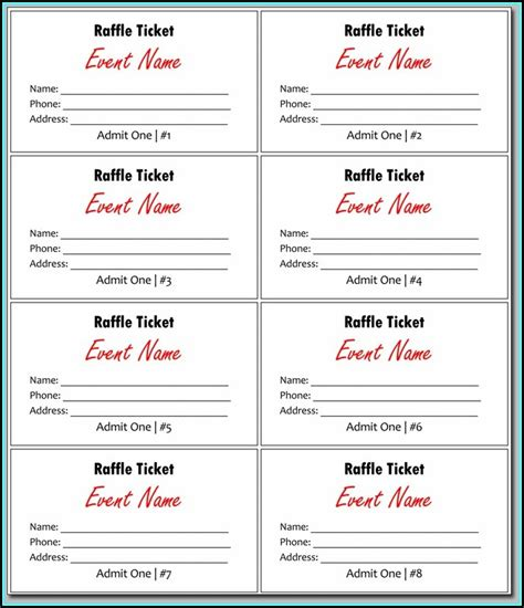 Publisher Ticket Template by 50 50 Raffle Ticket Template Free Template 2 Resume