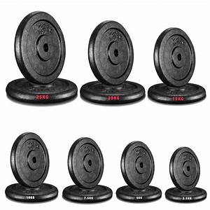 Cast Iron Weight Plates Free Weights 1 U0026quot  Disc Dumbbell Barbell Bar Weight Fitness