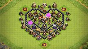 Undefeated Town Hall 6  Th6  Heart  Ufe0f Base      Valentine Special   - Clash Of Clans