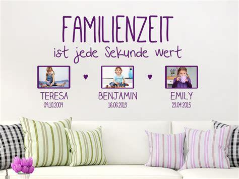 Wandtattoo Mit Fotorahmen by Wandtattoo Familienzeit Ist Jede Mit Fotorahmen