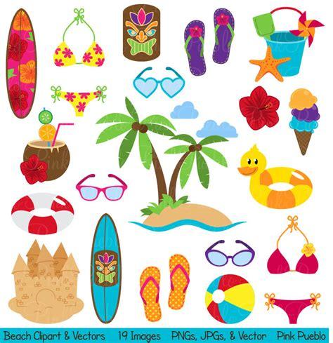 Beach Clipart Clip Art Summer Vacation Travel Clipart Clip