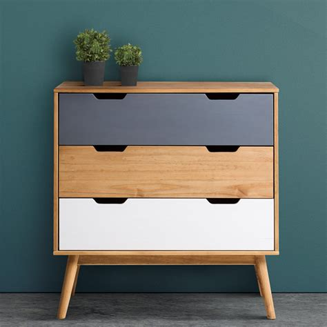 Commode A But by Commode Scandinave 3 Tiroirs Anael Bois Massif Chambres