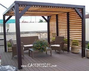Abri De Terrasse En Bois : abri terrasse bois avec ventelles 12mc vt3536 ~ Dailycaller-alerts.com Idées de Décoration