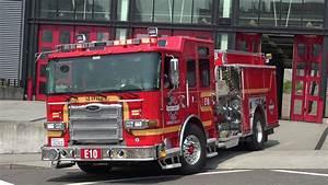 Engine 10 Responding Seattle Fire Department  2017 Pierce Enforcer