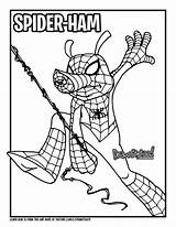 Spider Ham Draw Marvel Comics Coloring Drawing Verse Pages Into Colouring Too Drawittoo Spiderman Peter Porker Tutorial Super Books Cartoon sketch template