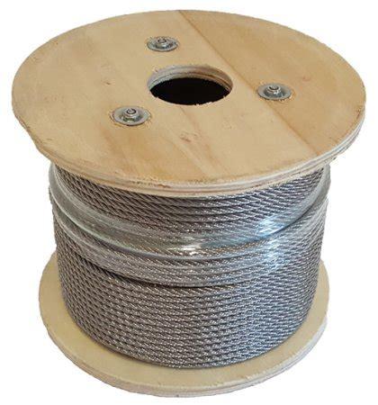 100 meter edelstahlseil 4 mm aus v4a 1 rolle