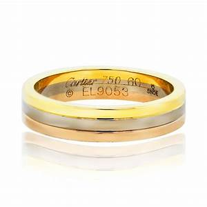 Cartier tri color mens wedding band ring boca raton for Cartier mens wedding ring