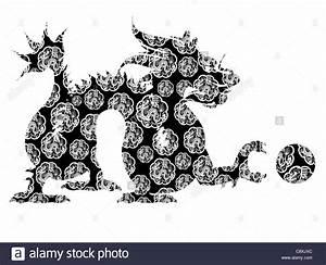 Drachen Schwarz Weiß : japanese dragon art stockfotos japanese dragon art bilder alamy ~ Orissabook.com Haus und Dekorationen