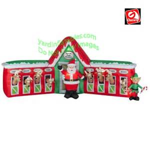inflatable reindeer stble with santa just b cause
