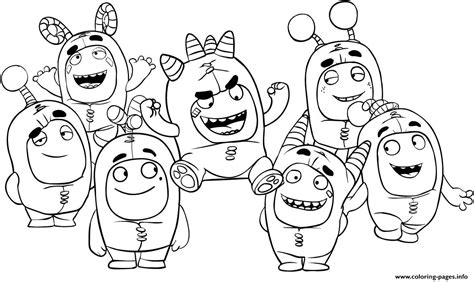 oddbods coloring pages printable