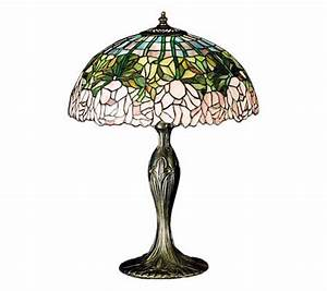 Tiffany styled 22quoth cabbage rose lamp qvccom for Tiffany floor lamp qvc