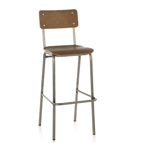 chaise de bar vintage chaise haute de bar d 39 esprit vintage bois teinte bois