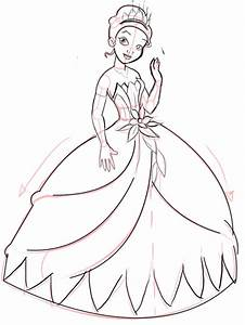 How To Draw A Princess Dress Step By Step | www.pixshark ...