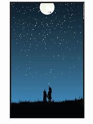 Person Looking at Sky Night