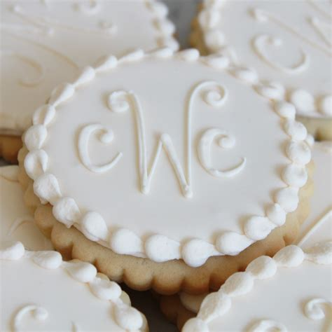 letter monogram cookie favors whipped bakeshop