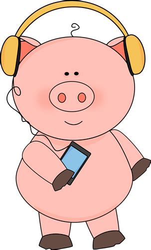 listening to ipod clipart pig listening to clip pig listening to image