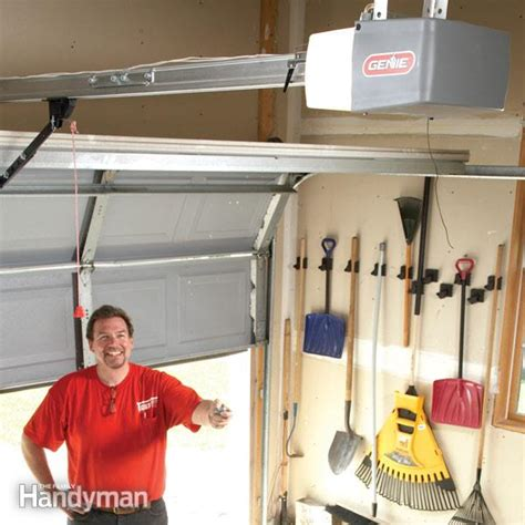 How To Put On Garage Door by How To Install A Garage Door Opener The Family Handyman