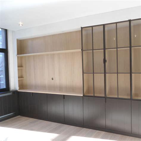 boekenkast eiken fineer ingemaakte kasten of inbouwkasten meubelmakerij ateliers