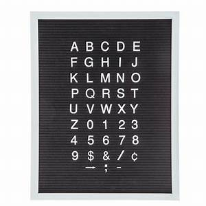 Black felt letterboard with white letters 15 3 4quot x 20 for Felt letter board hobby lobby