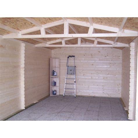 garage en bois 28 mm 3 50 x 5 40 m livr 233 et mont 233