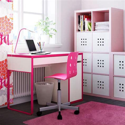 Pink Desk Ikea by Escritorios Infantiles Con La Mesa Micke De Ikea Pink