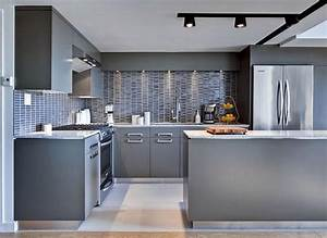 grey kitchen design pictures peenmediacom With kitchen colors with white cabinets with pineapple metal wall art