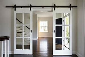 good idea if you find salvaged french doors that are too With barn door style french doors