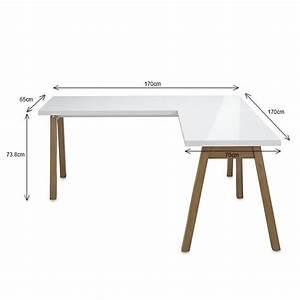 Bureau Bois Blanc : fabriquer un bureau d angle ~ Teatrodelosmanantiales.com Idées de Décoration