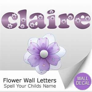 name wallletters alphabet stickers initial decals girls With stick letters wall