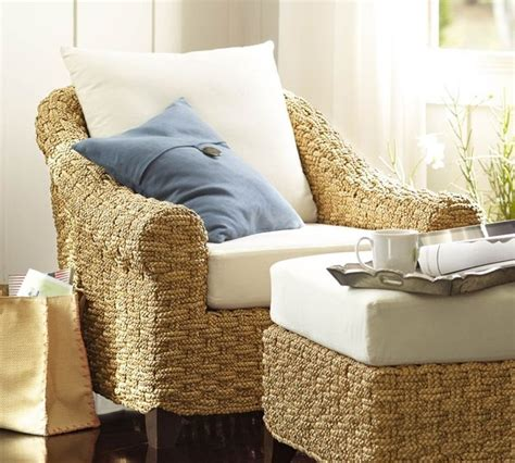 knock pottery barn seagrass chairs holbrook seagrass armchair contemporary armchairs and
