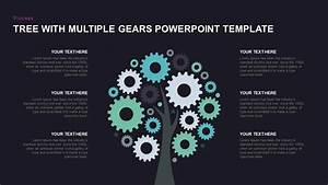 Tree With Multiple Gears Powerpoint Diagram