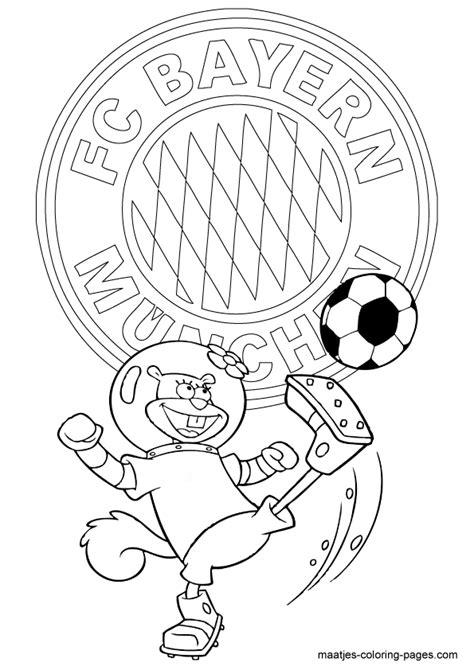 Kleurplaat Bayermunchen by Bayern Munchen Soccer Free Printable