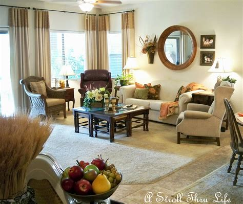 There's something just so cozy and inviting about a home decorated with warm shades of brown. A Stroll Thru Life: Burnt Orange and Brown
