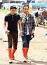 Nick Grimshaw [r.] & Nicco Torelli in matching red wellies ...