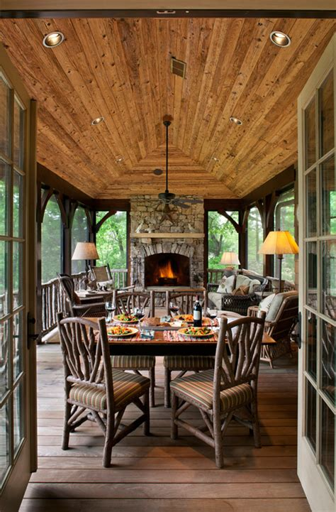 cozy lake house with a fabulous screened porch