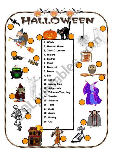 Halloween Vocabulary  Esl Worksheet By Anna P