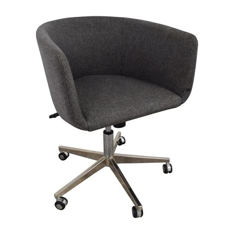 Desk Chair With Wheels by 80 Modern Grey Office Chair With Chrome Wheels Chairs