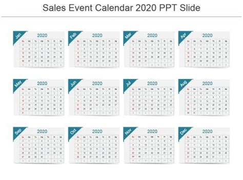 sales event calendar powerpoint images