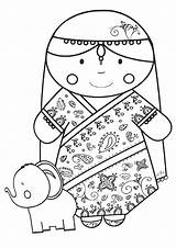 India Coloring Pages India16 sketch template