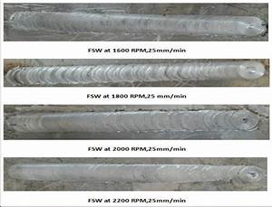 Surface Of Welding Line For All  Fsw  Specimens