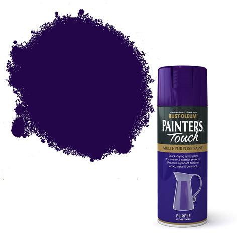 rust oleum painters touch purple gloss decorative spray