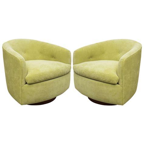 milo baughman pair of fabulous swivel barrel chairs at 1stdibs